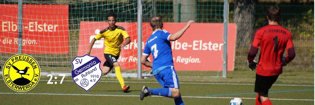 02. Spieltag – Elsterwerda – Ruhland 2:7 (1:2)